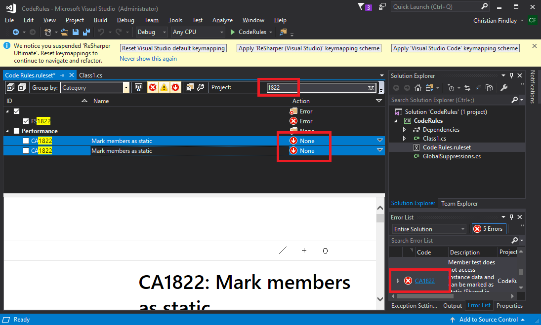 How To Activate Resharper In Vs2017